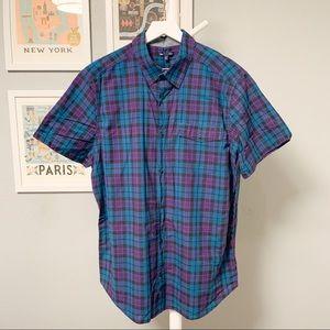 Gap Plaid Short Sleeve Shirt XL